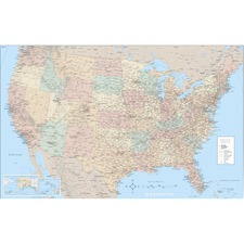 Laminated USA W Map